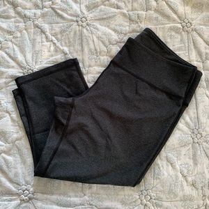 Zella Crop Athletic Pant, Charcoal Grey, Size L